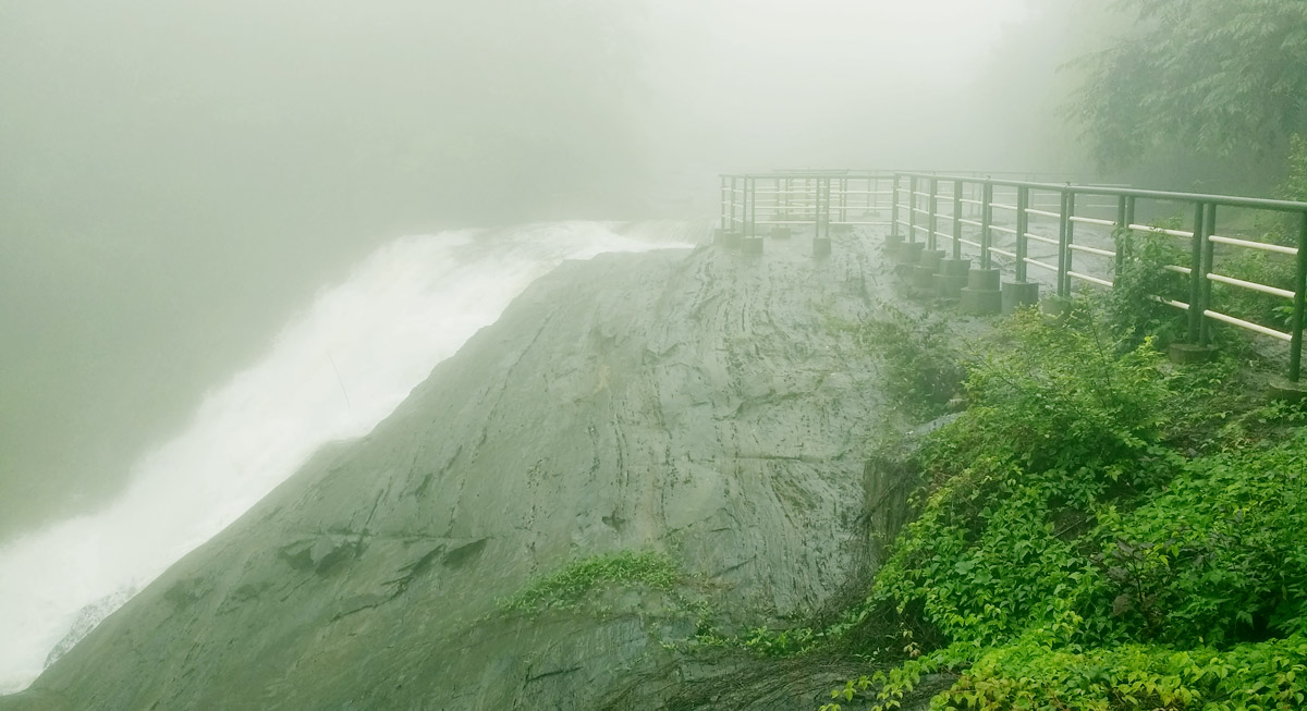Handrails at Kanthanpara waterfalls